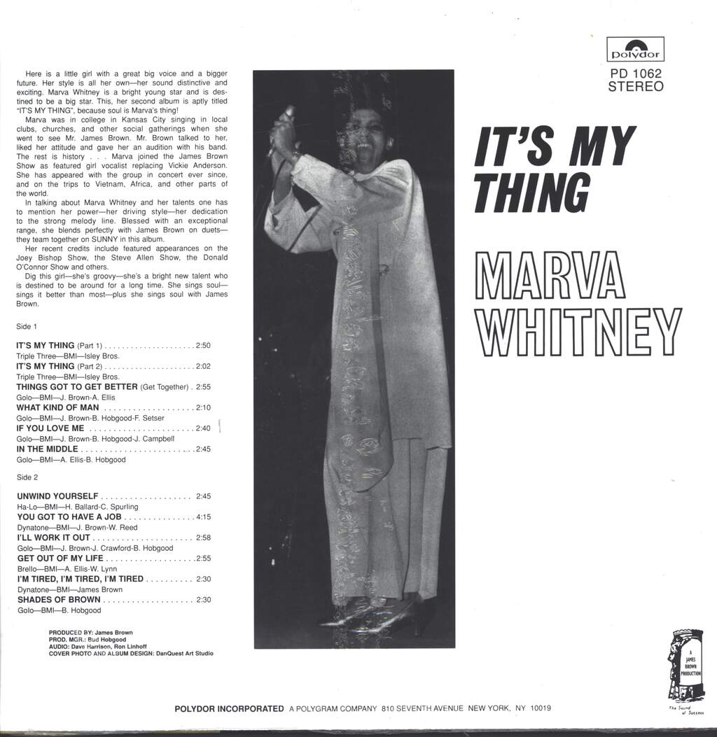 Marva Whitney: It's My Thing, LP (Vinyl)