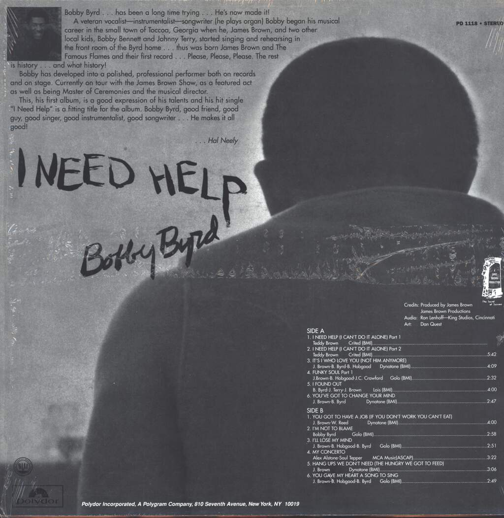 Bobby Byrd: I Need Help (Live On Stage), LP (Vinyl)