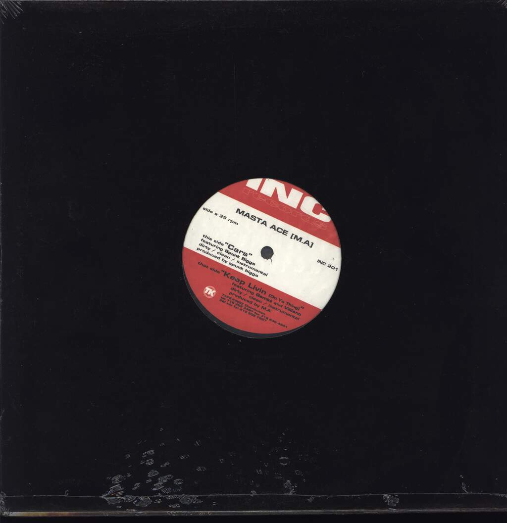 "Masta Ace: Cars / Keep Livin (Do Ya Thing), 12"" Maxi Single (Vinyl)"