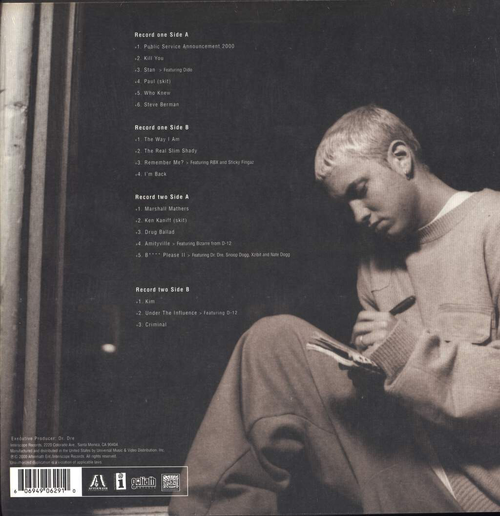 Eminem: The Marshall Mathers LP, LP (Vinyl)