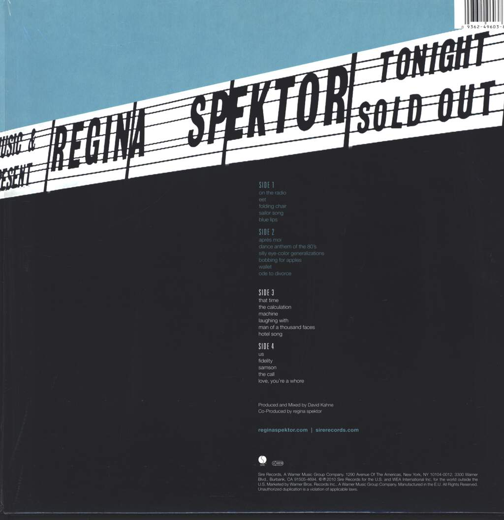 Regina Spektor: Live In London, LP (Vinyl)