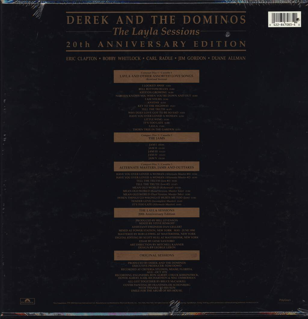 Derek & The Dominos: The Layla Sessions 20th Anniversary Edition, 3×Tape
