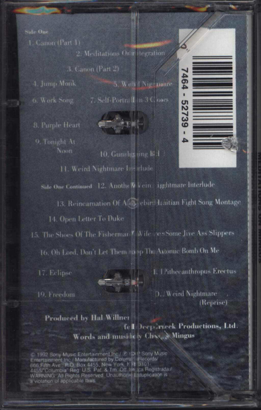 Various: Weird Nightmare: Meditations On Mingus, Compact Cassette