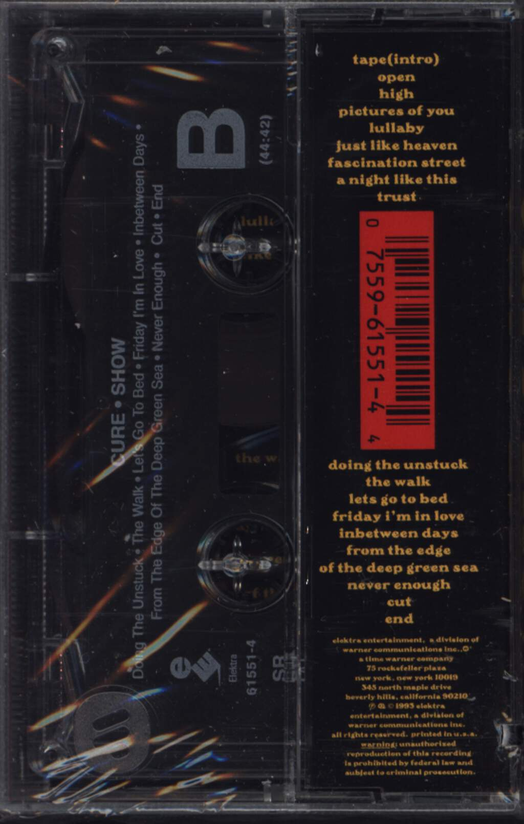 The Cure: Show, Compact Cassette