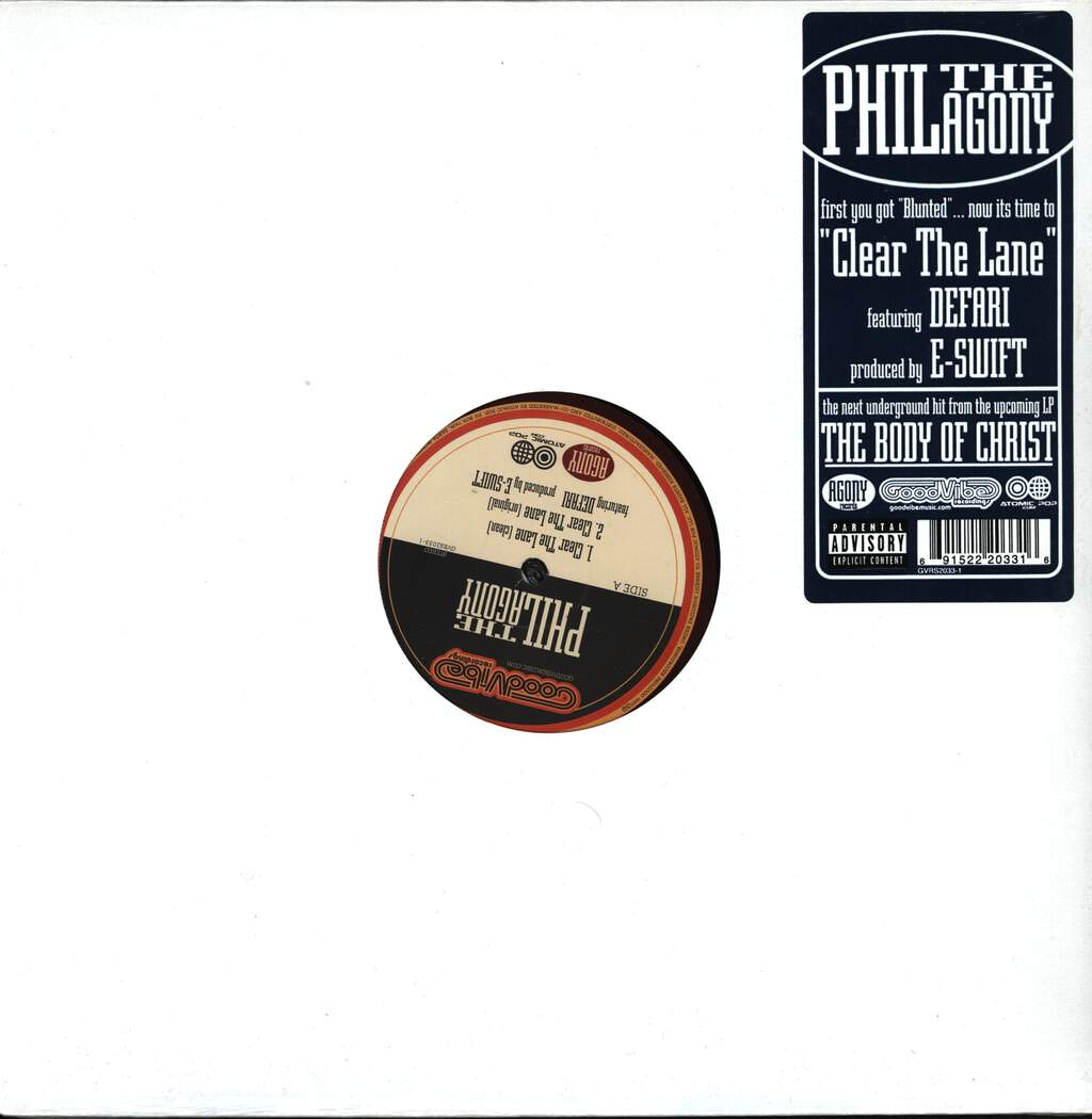 "Phil Da Agony: Clear The Lane, 12"" Maxi Single (Vinyl)"