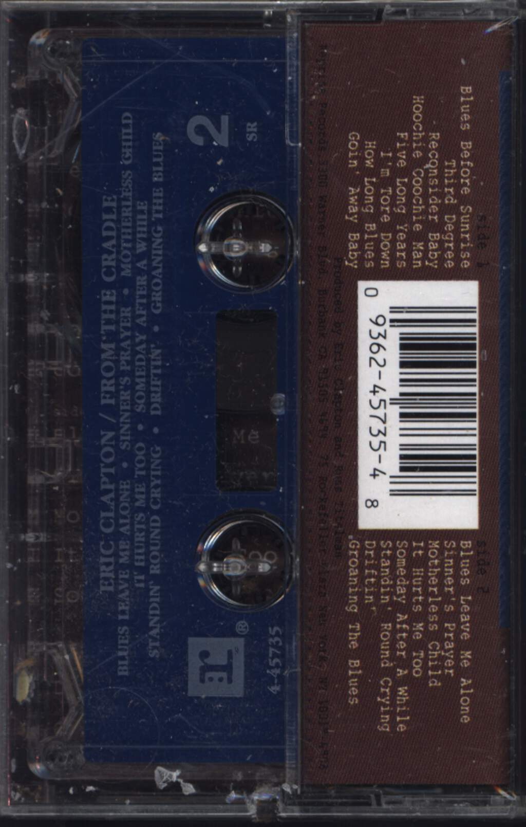 Eric Clapton: From The Cradle, Tape