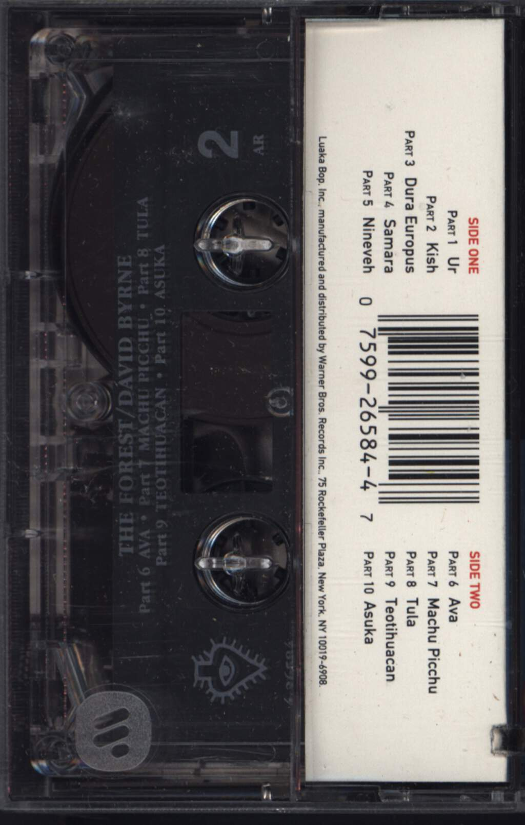 David Byrne: The Forest, Compact Cassette