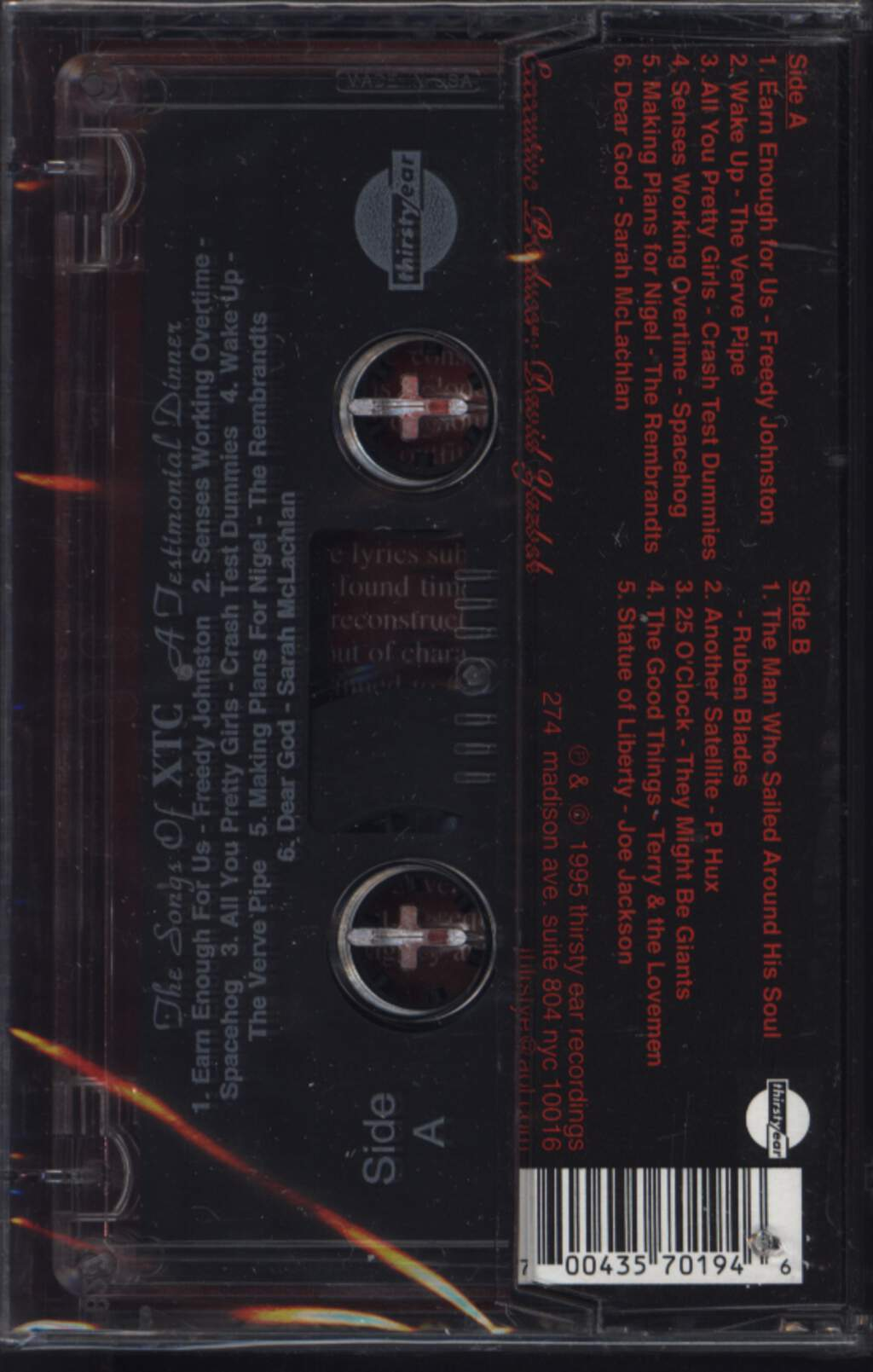 Various: A Testimonial Dinner - The Songs Of XTC, Tape