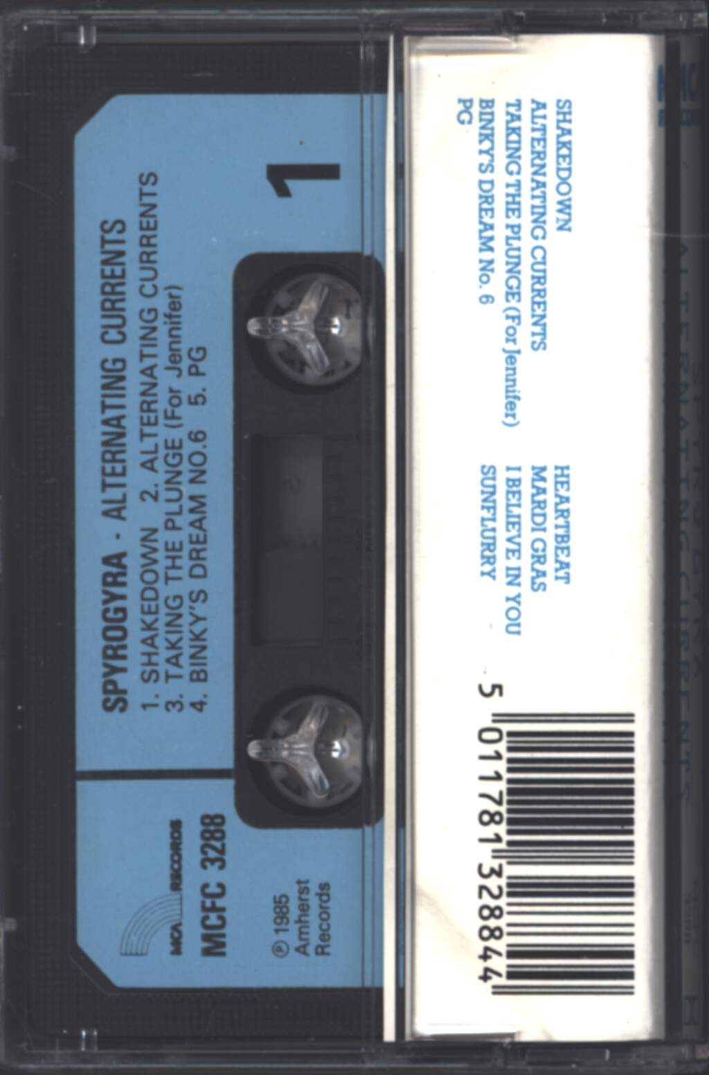 Spyro Gyra: Alternating Currents, Compact Cassette