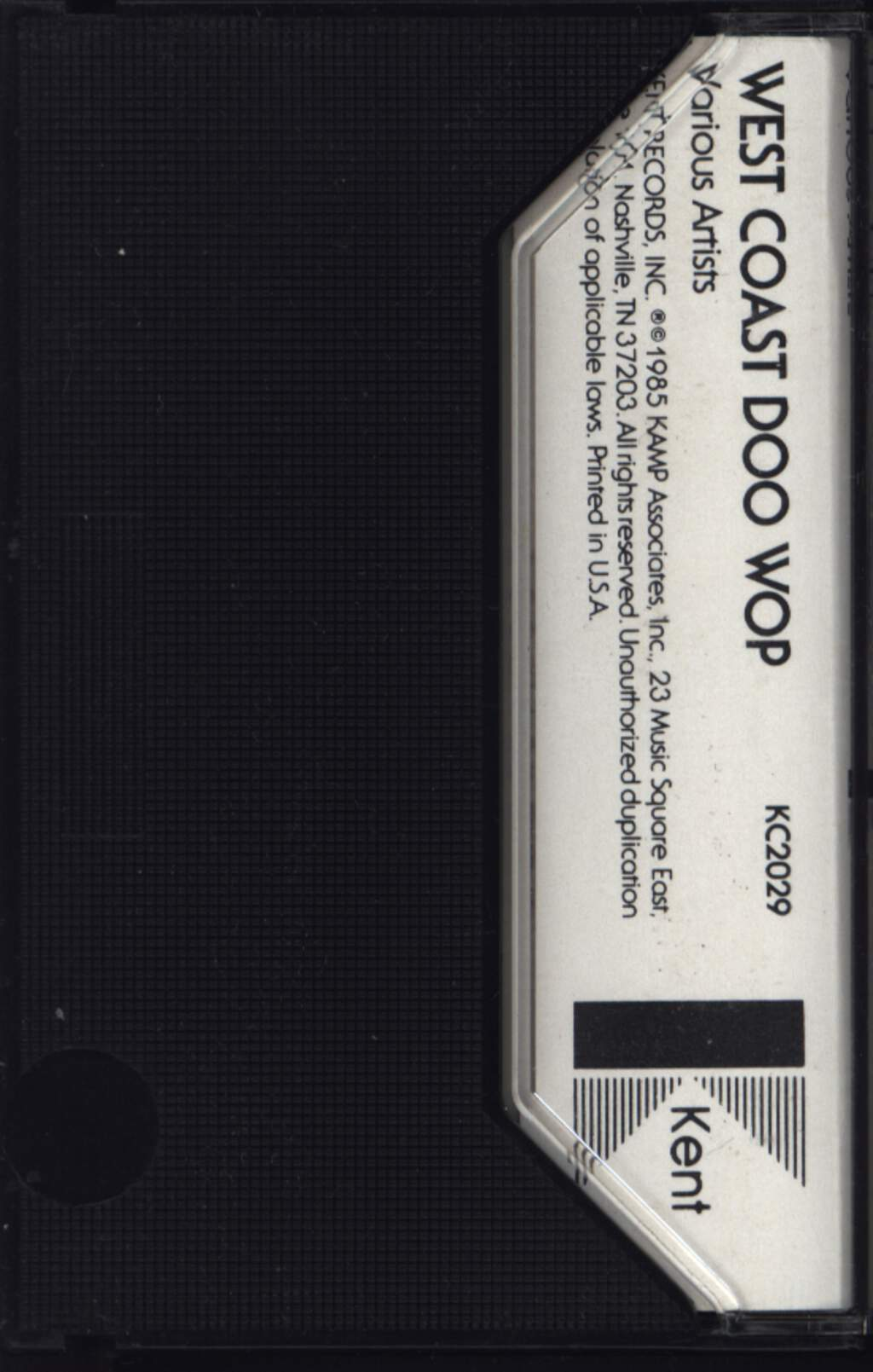 Various: West Coast Doo Wop, Tape