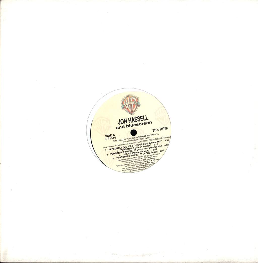 "Jon Hassell: Personals, 12"" Maxi Single (Vinyl)"