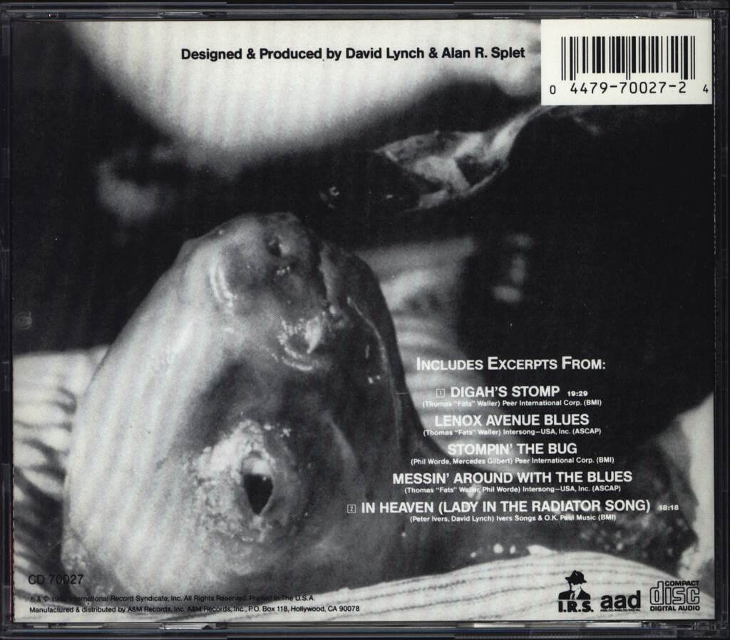 David Lynch: Eraserhead Original Soundtrack, CD