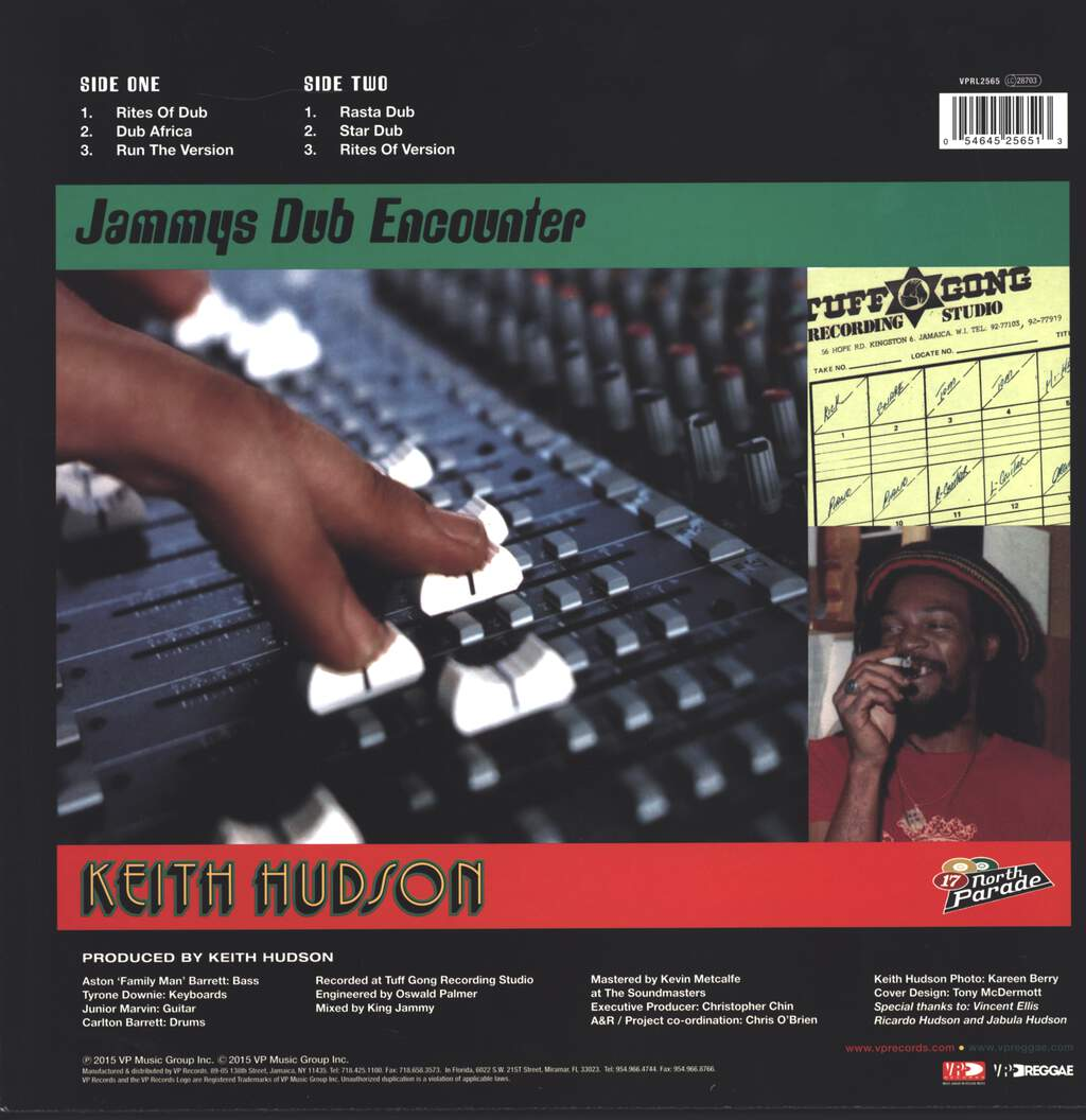 Keith Hudson: Jammys Dub Encounter, LP (Vinyl)