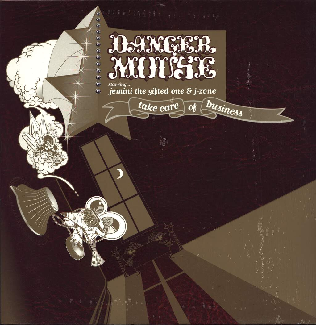 "Danger Mouse: Take Care Of Business, 12"" Maxi Single (Vinyl)"