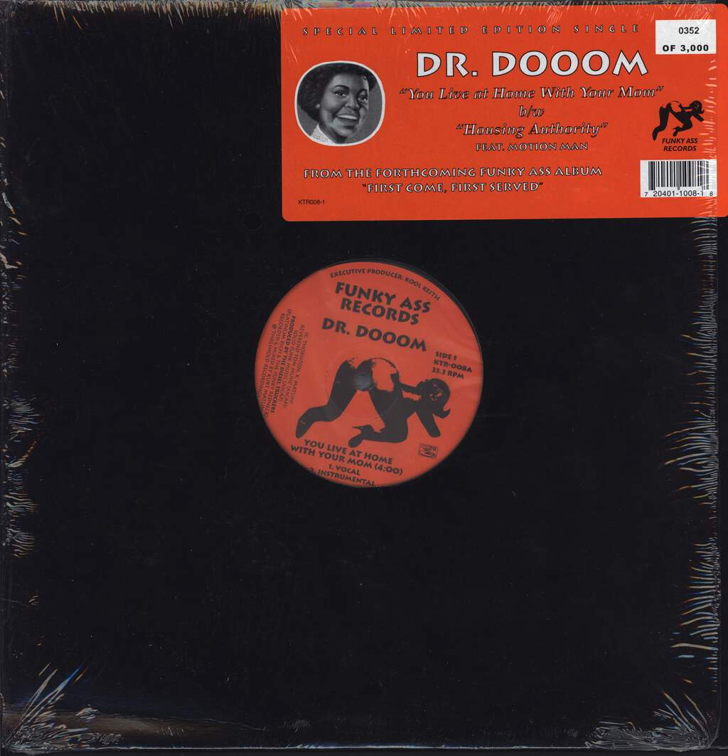 "Dr. Dooom: You Live At Home With Your Mom, 12"" Maxi Single (Vinyl)"