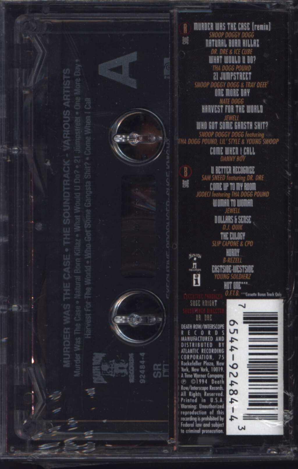 Various: Murder Was The Case (The Soundtrack), Compact Cassette