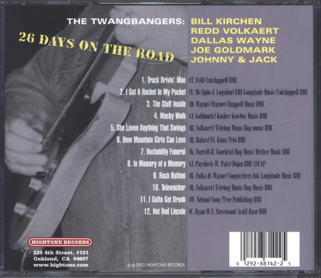 The Twangbangers: 26 Days On The Road, CD