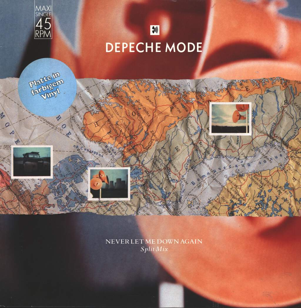 "Depeche Mode: Never Let Me Down Again (Split Mix), 12"" Maxi Single (Vinyl)"
