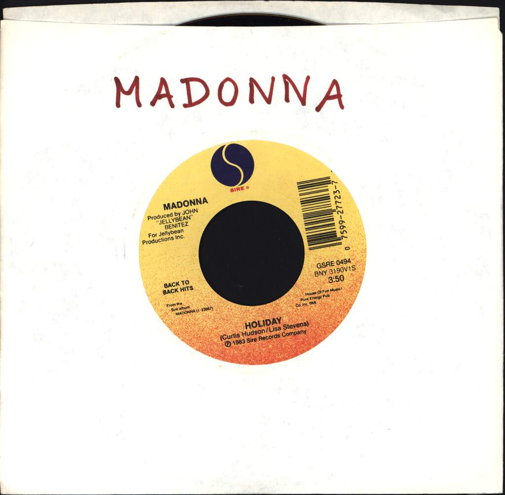 "Madonna: Holiday / Borderline, 7"" Single (Vinyl)"