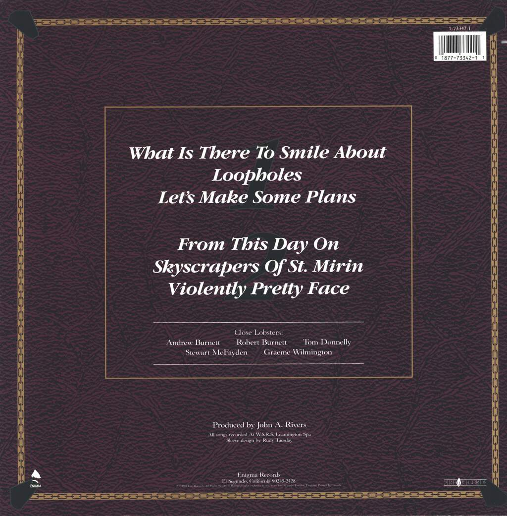"Close Lobsters: What Is There To Smile About, 12"" Maxi Single (Vinyl)"