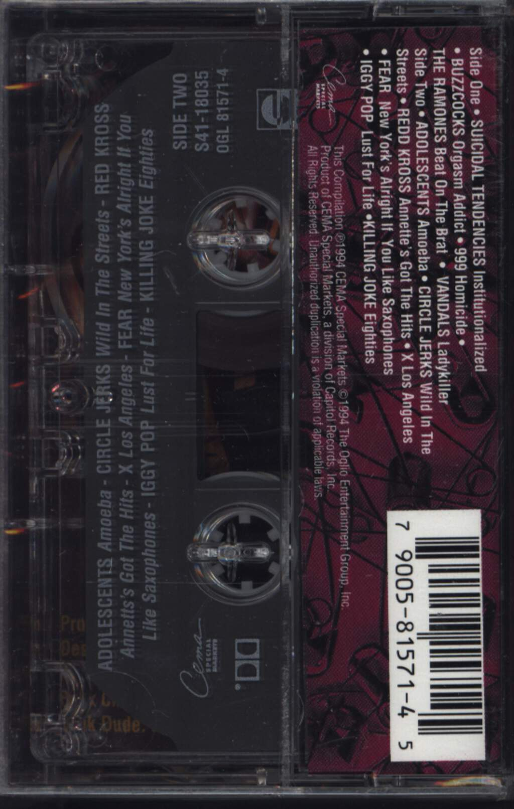 Various: Punk University Vol. 1, Compact Cassette