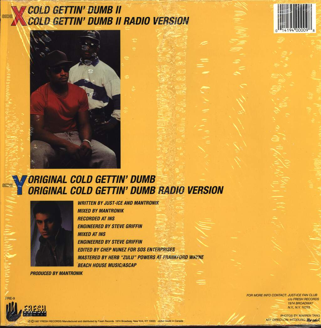 "Just-Ice: Cold Gettin' Dumb, 12"" Maxi Single (Vinyl)"