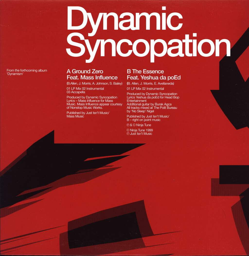 "Dynamic Syncopation: Ground Zero, 12"" Maxi Single (Vinyl)"