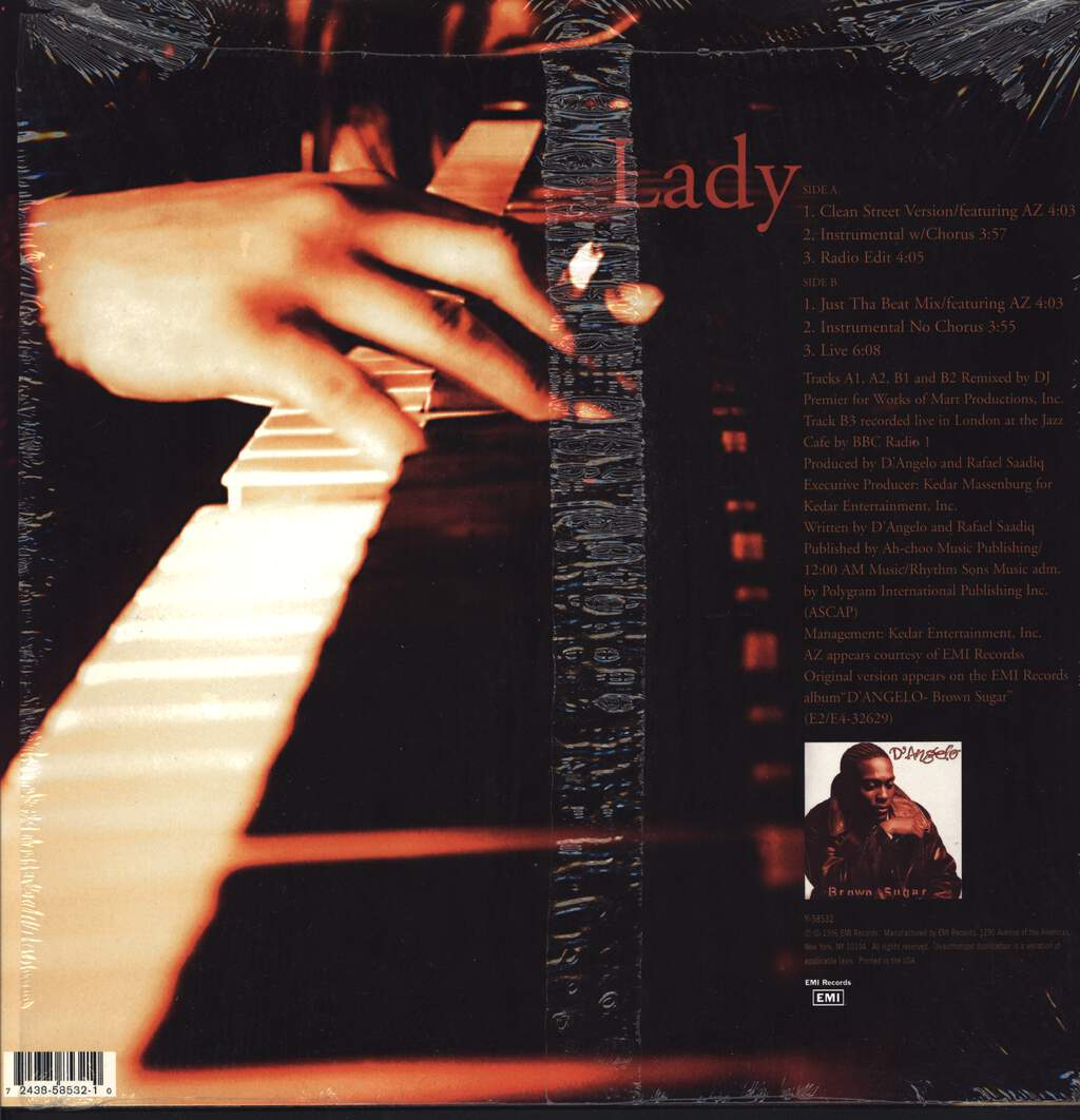 "D´Angelo: Lady, 12"" Maxi Single (Vinyl)"