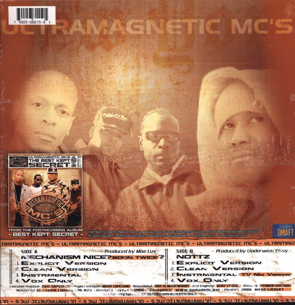 "Ultramagnetic Mc's: Mechanism Nice (Born Twice) / Nottz, 12"" Maxi Single (Vinyl)"
