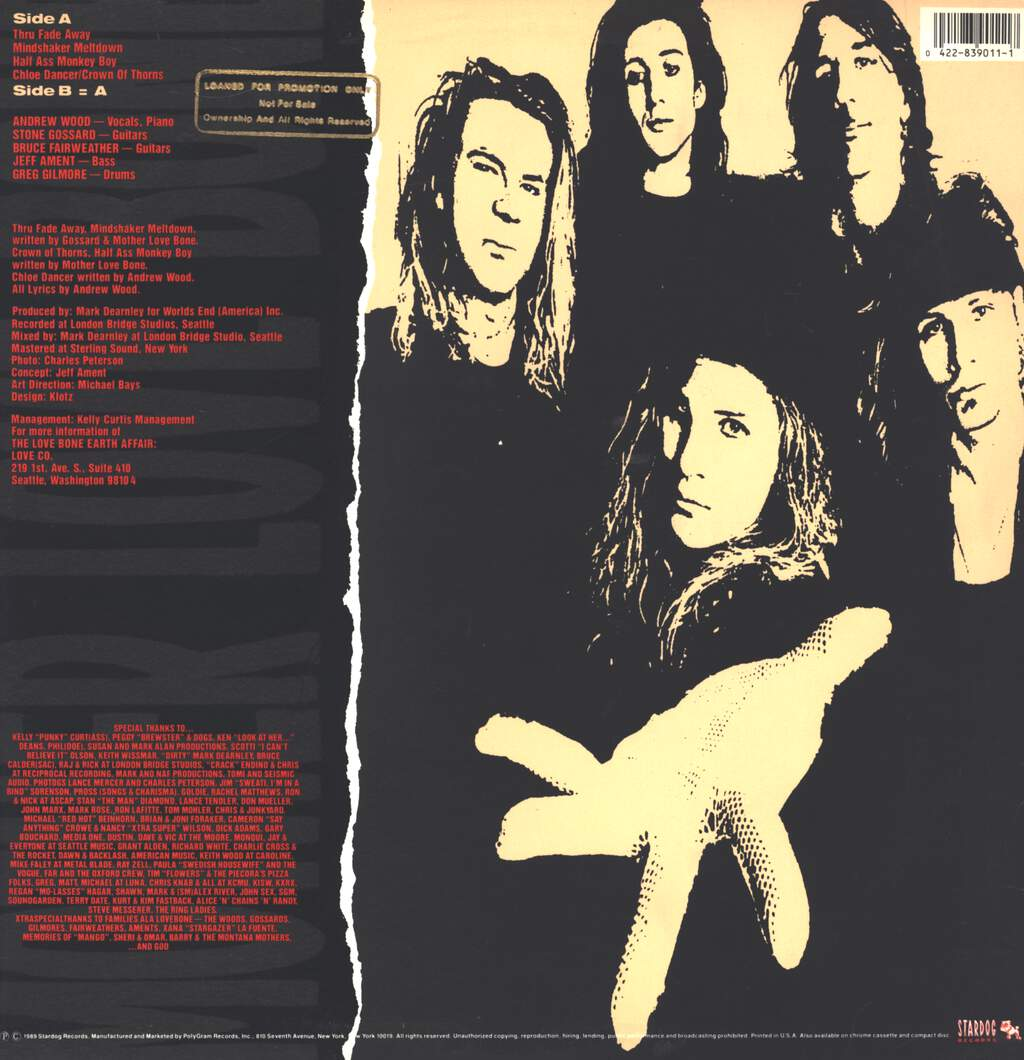 "Mother Love Bone: Shine, 12"" Maxi Single (Vinyl)"