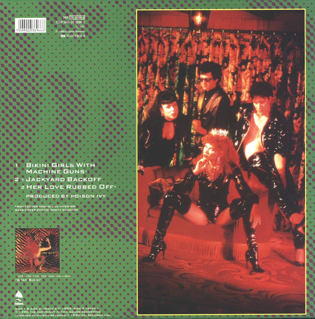 "The Cramps: Bikini Girls With Machine Guns, 12"" Maxi Single (Vinyl)"