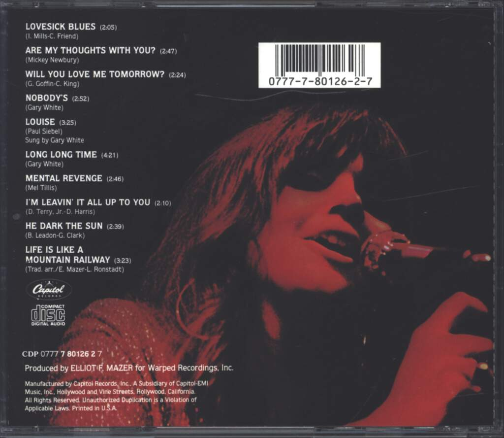 Linda Ronstadt: Silk Purse, CD