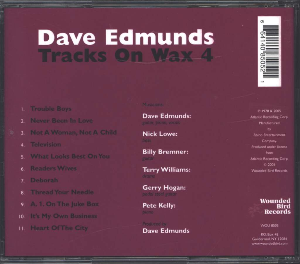 Dave Edmunds: Tracks On Wax 4, CD