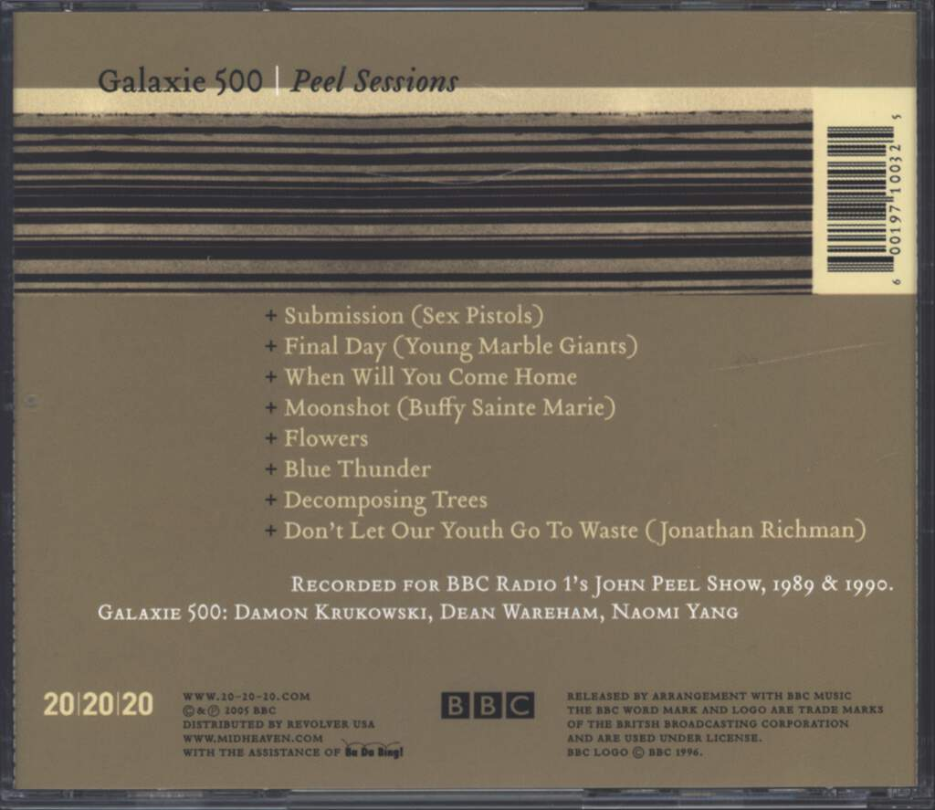 Galaxie 500: Peel Sessions, CD