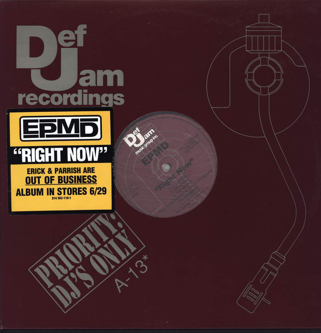 "Epmd: Right Now / Symphony, 12"" Maxi Single (Vinyl)"