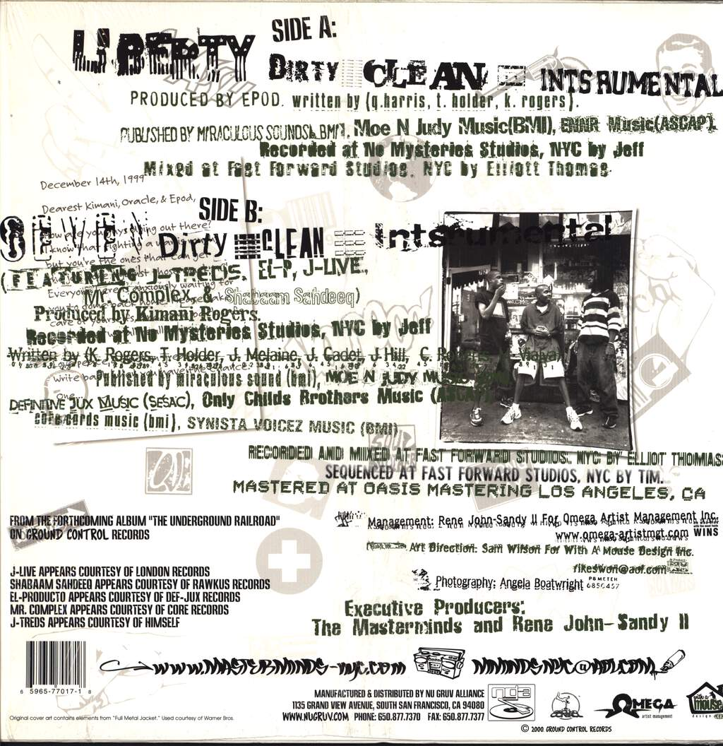 "Masterminds: Liberty, 12"" Maxi Single (Vinyl)"