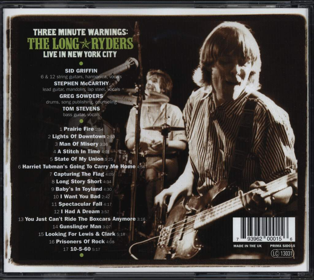 The Long Ryders: Three Minute Warnings: Live In New York City, CD