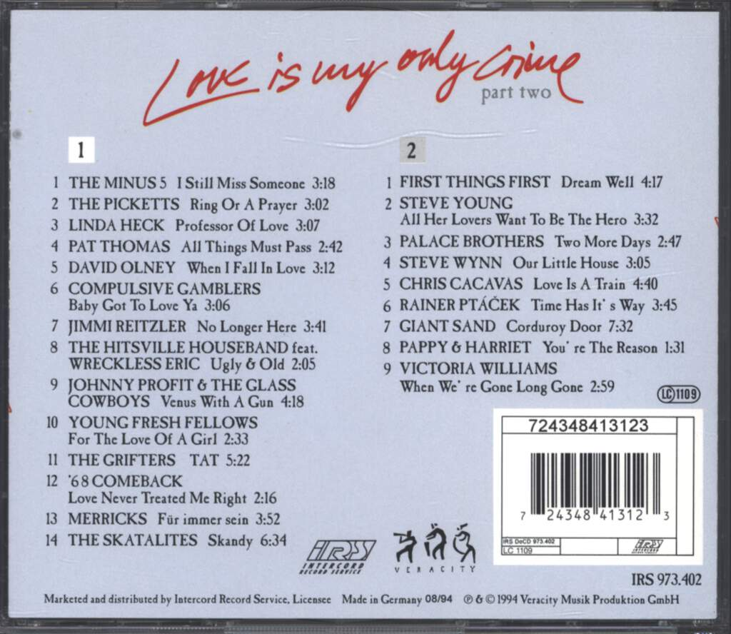 Various: Love Is My Only Crime - Part Two, CD