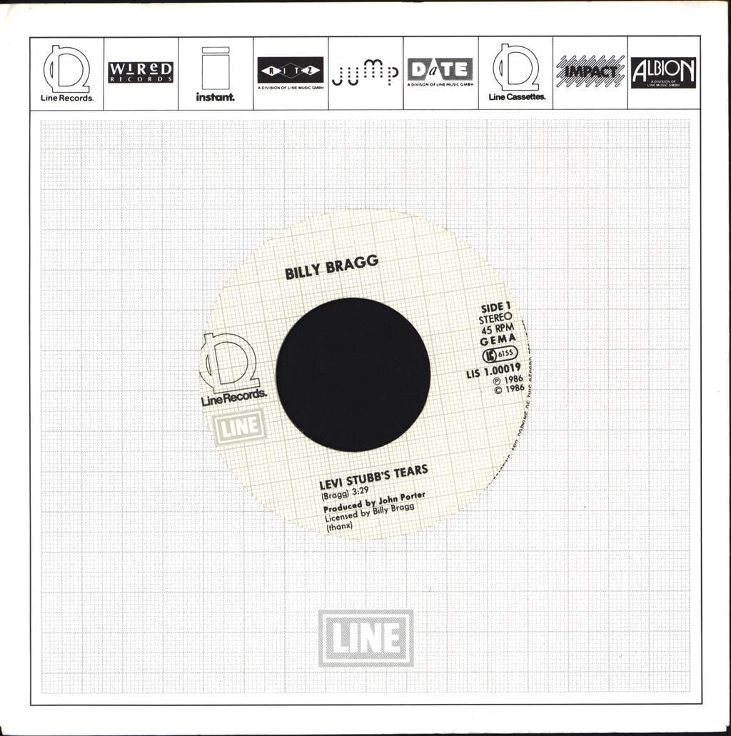 "Billy Bragg: Levi Stubb's Tears / Between The Wars, 7"" Single (Vinyl)"
