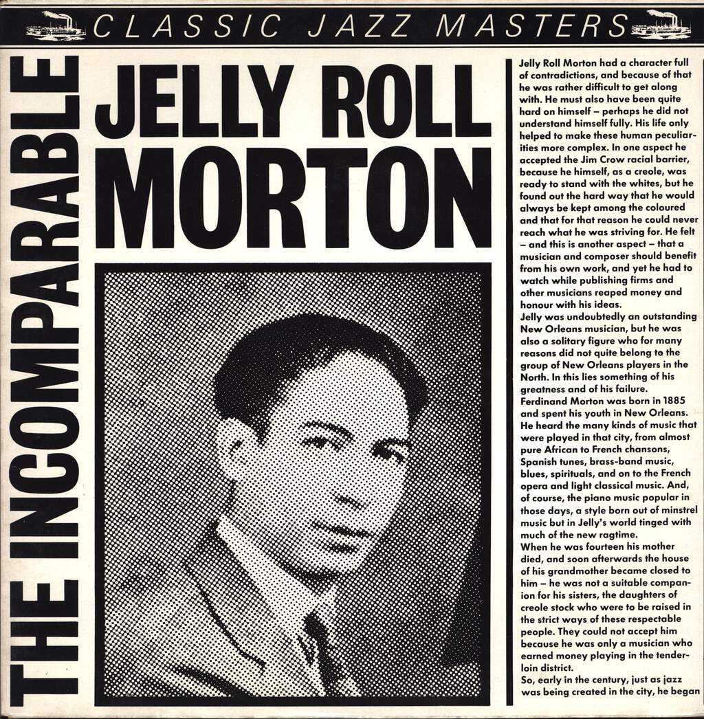 Jelly Roll Morton: The Incomparable Jelly Roll Morton, LP (Vinyl)