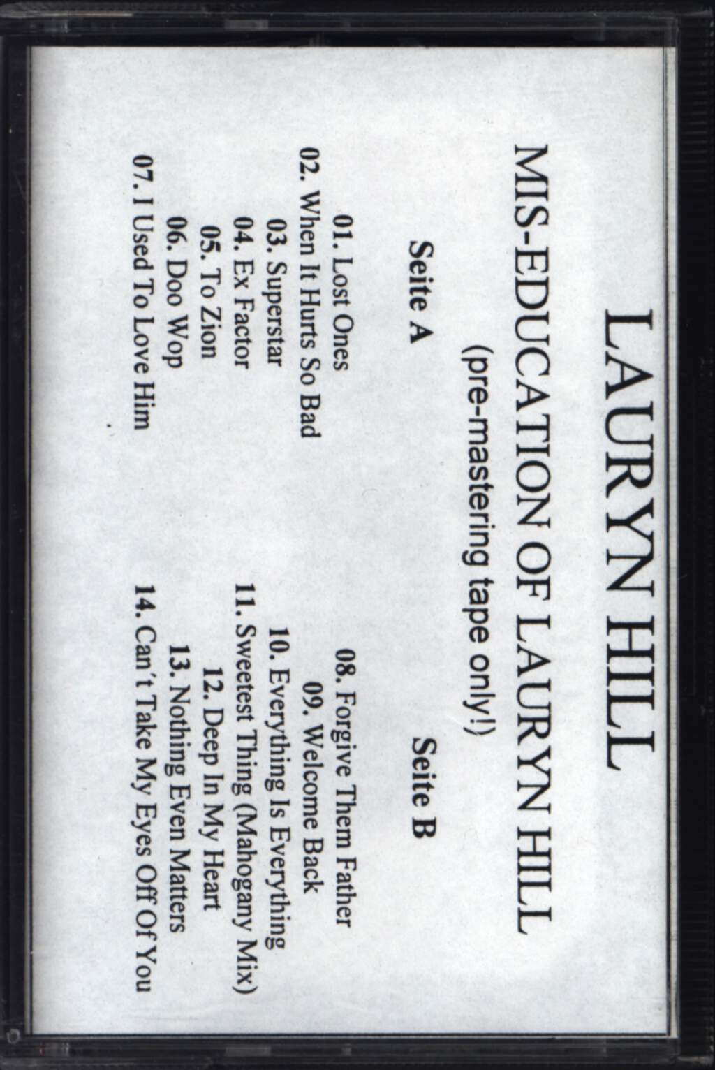 Lauryn Hill: The Miseducation Of Lauryn Hill, Compact Cassette