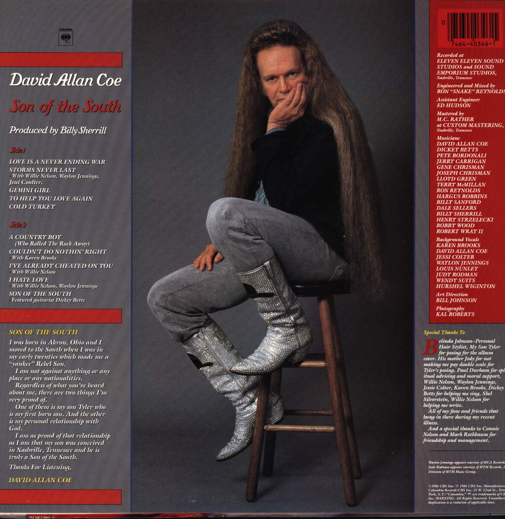 David Allan Coe: Son Of The South, LP (Vinyl)