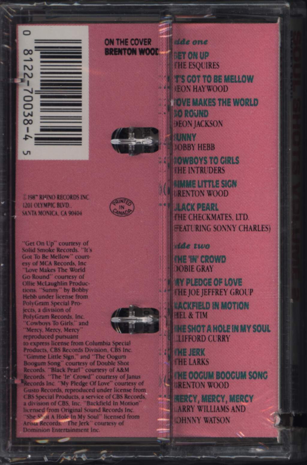 Various: Soul Shots Vol. 2 - The 'In' Crowd, Compact Cassette