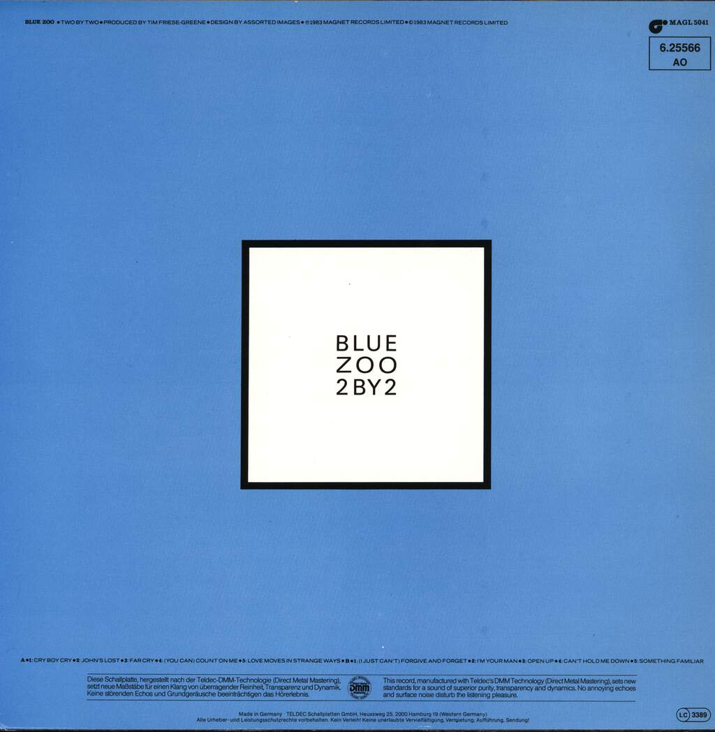 Blue Zoo: 2 By 2, LP (Vinyl)