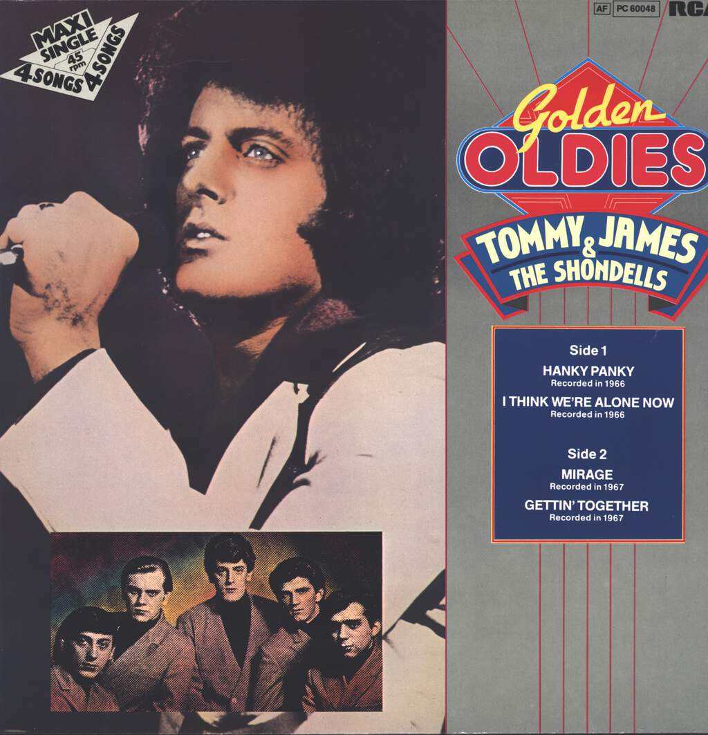 "Tommy James & The Shondells: Golden Oldies, 12"" Maxi Single (Vinyl)"