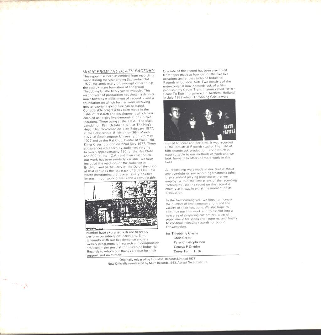Throbbing Gristle: The Second Annual Report, LP (Vinyl)