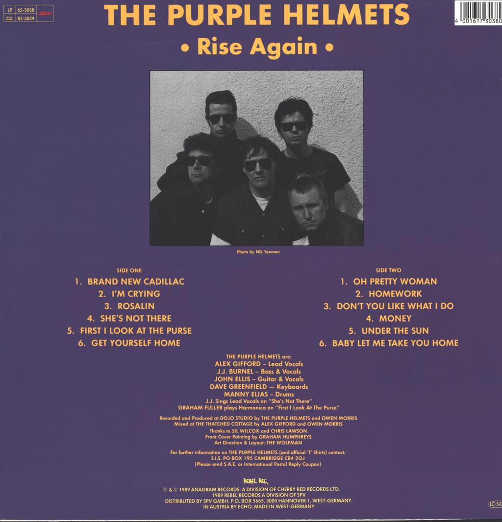 The Purple Helmets: Rise Again, LP (Vinyl)