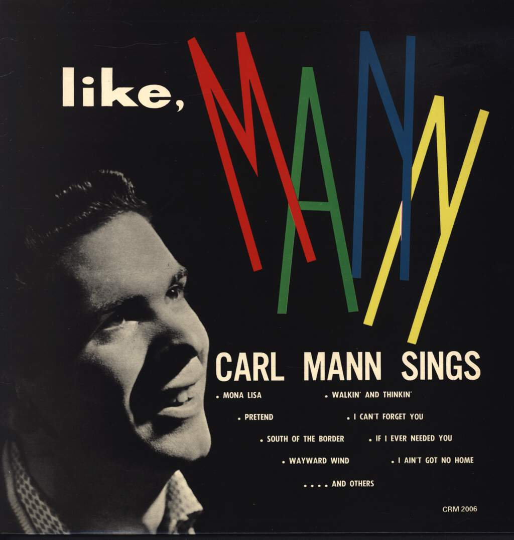Carl Mann: Like Mann, LP (Vinyl)