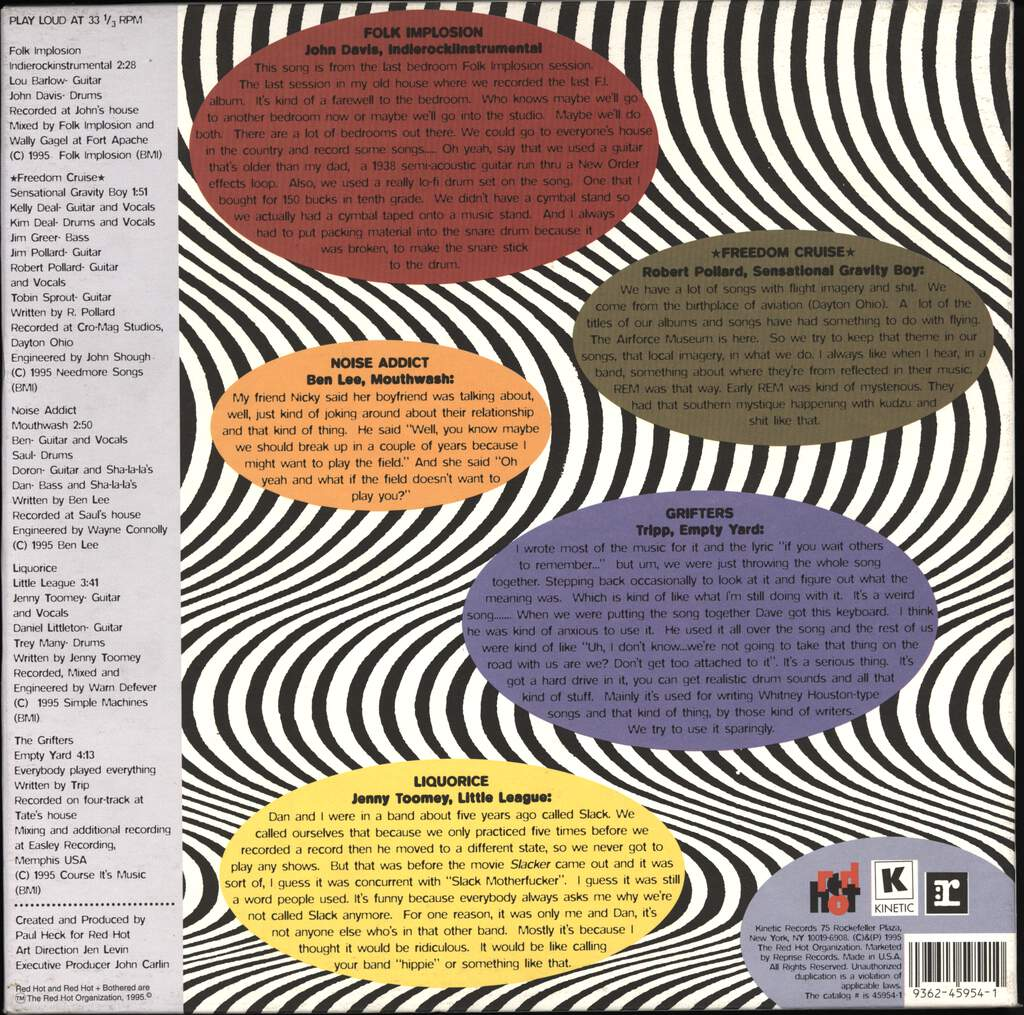 "Various: Red Hot + Bothered (The Indie Rock Guide To Dating), 10"" Vinyl EP"