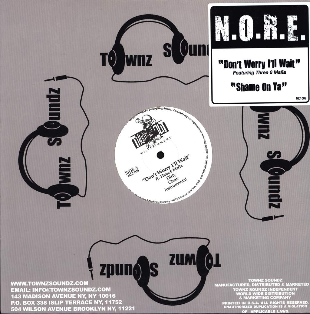 "N. O. R. E.: Don't Worry I'll Wait, 12"" Maxi Single (Vinyl)"